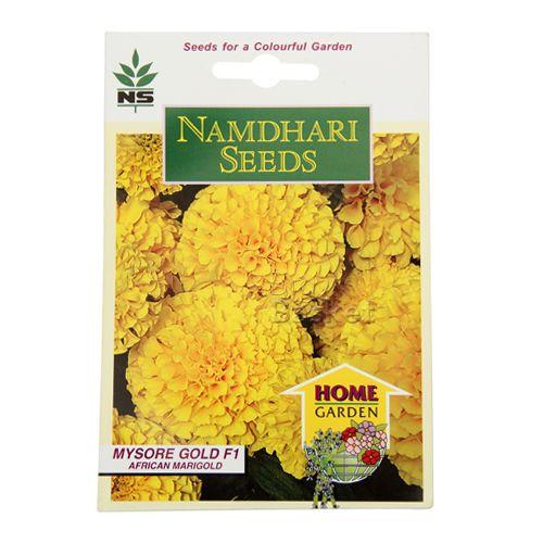 Namdhari Seeds Home Garden - African Marigold, 15 pcs