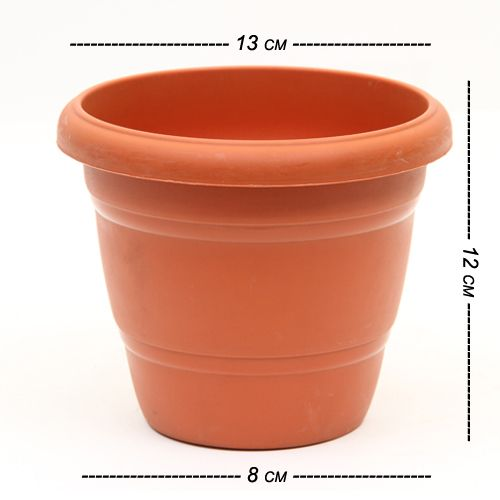 Kr Green Planter - No. 2 (Pack of 6), Open Dia 13 cm Height 12 cm
