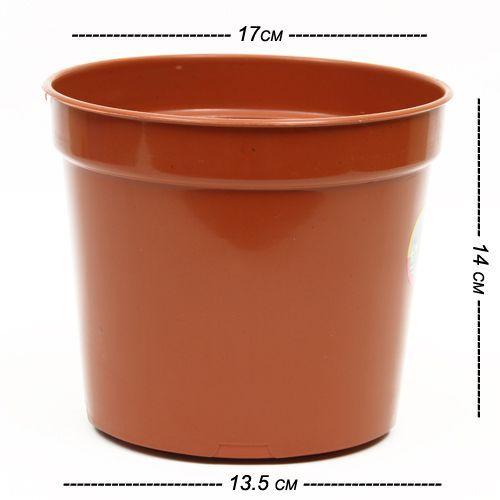 Natures Plus Nursery Pot - Brown, 6 pcs