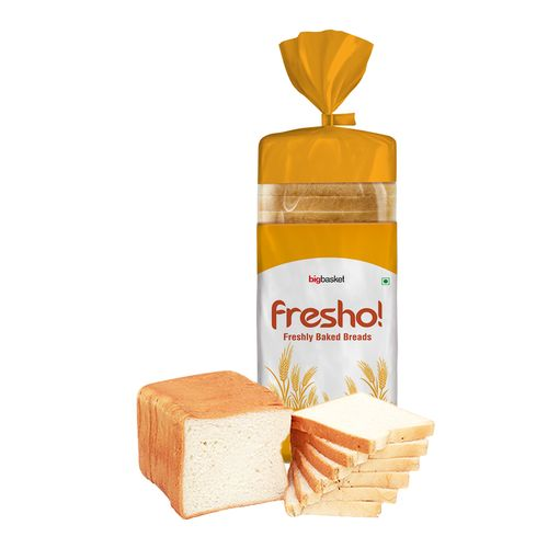 Fresho White Sandwich Bread - Safe, Preservative Free, 400 g