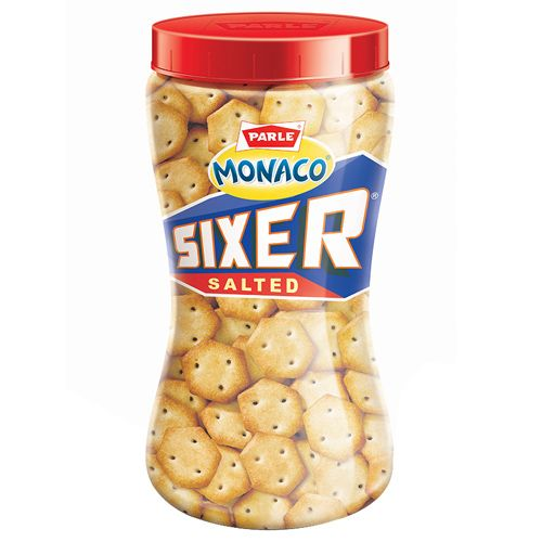 Parle Monaco Sixer Salted, 200 g Bottle