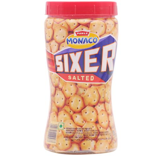 Parle Monaco Sixer - Salted, 200 g Bottle