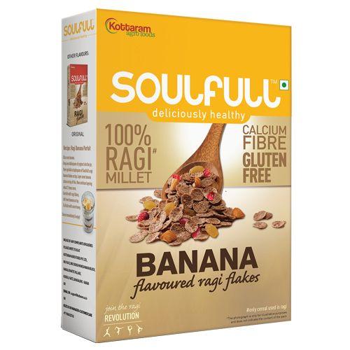 Soulfull Ragi Flakes - Banana, 300 g Carton
