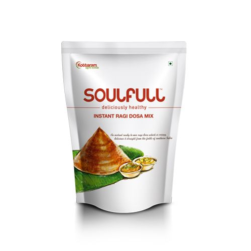 Soulfull Deliciously Healthy - Instant Ragi Dosa Mix, 400 gm Pouch