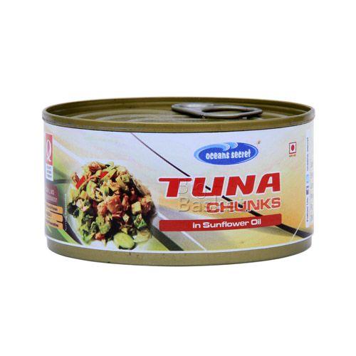 Ocean Secret Tuna Chunks in - Sunflower Oil, 180 gm Tin