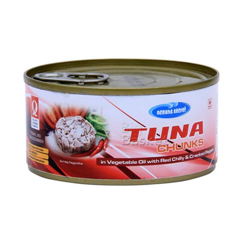 Ocean Secret Tuna Chunks in - Vegetable Oil with Red Chilly & Cracked Pepper, 180 g