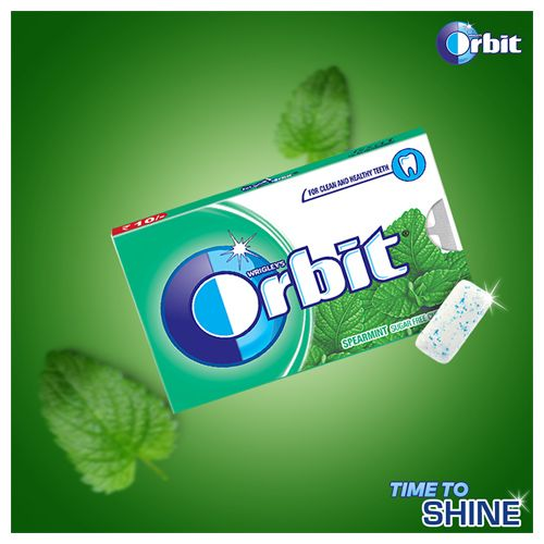 Orbit Wrigleys Chewing Gum - Spearmint, 15 Pcs