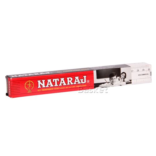 Nataraj Transparent Scale 621 30 cms, 10 pc