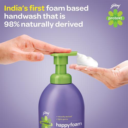 Protekt Happyfoam Germ Protection Liquid Hand Wash For Kids, 215 ml Bottle