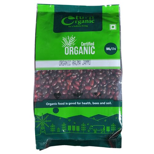 Turn Organic  Rajma Jammu, 500 g Pouch