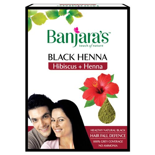 Buy Banjaras Black Henna With Hibiscus 50 Gm Carton Online At