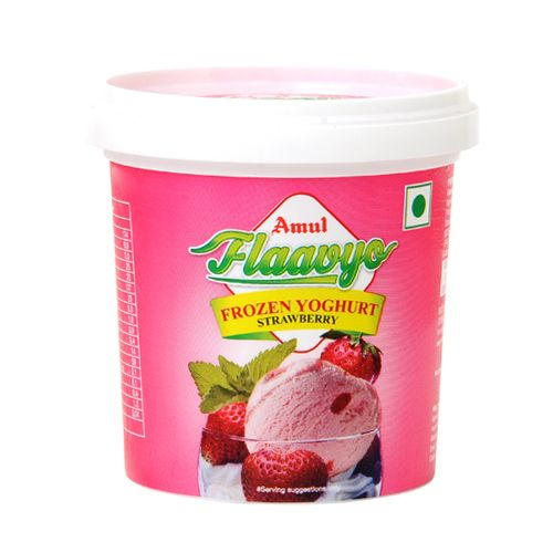 Amul Frozen Yoghurt - Strawberry, 125 ml Cup