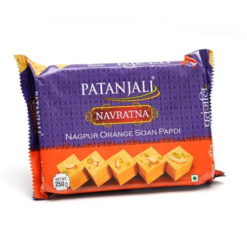 Patanjali Navratna Sona Papdi - Nagpur Orange, 250 gm Pouch