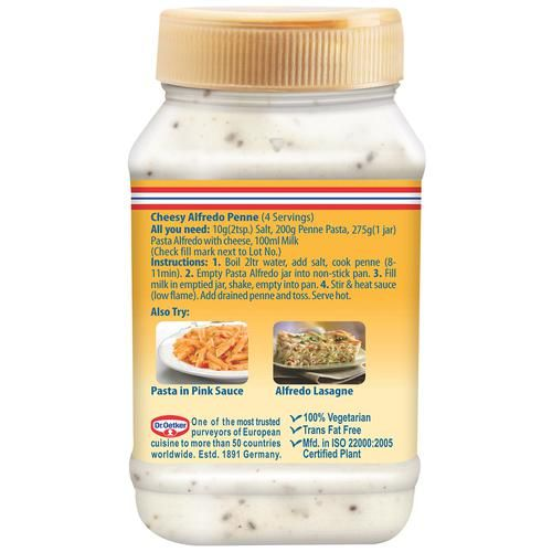 Dr. Oetker Pasta Alfredo With Cheese, 275 g PET