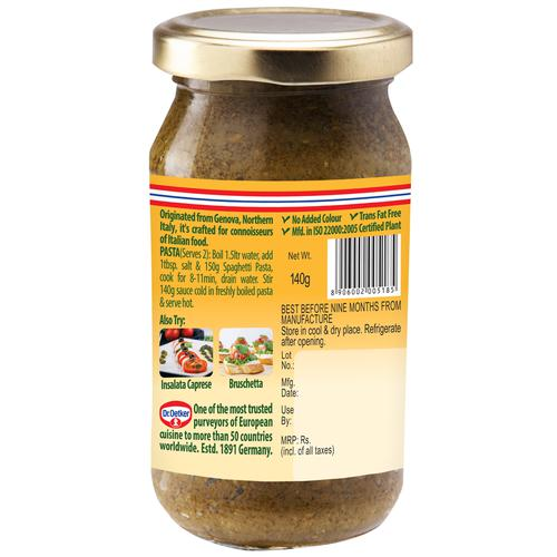Dr. Oetker Funfoods Pesto Verde Pasta Sauce, 140 g