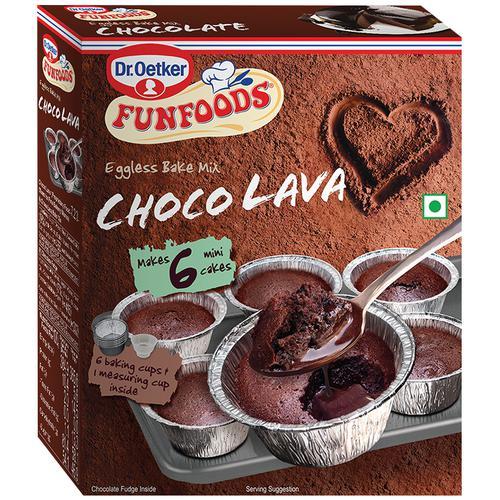Dr. Oetker FunFoods Eggless Bake Mix Choco Lava, 320 g