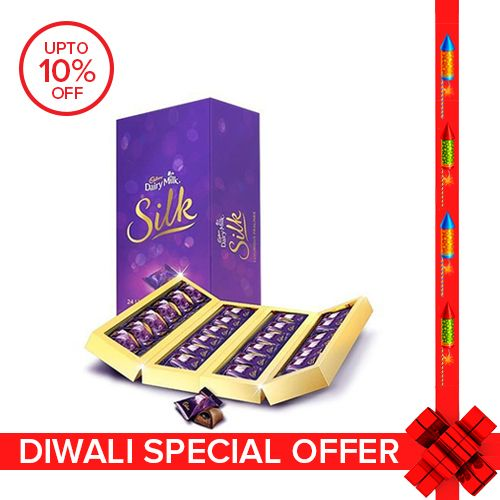 10 Lucky Winners Win 12 Months Of Free Shopping Offer on Cadbury Dairy Milk Silk Chocolates By Bigbasket | Cadbury Dairy Milk Silk Chocolate Pralines Collection, 240 gm ( 24 Units Gift Pack ) @ Rs.604.50