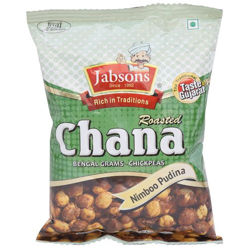 Jabsons Roasted Chana - Nimboo Pudina, 140 gm Pouch
