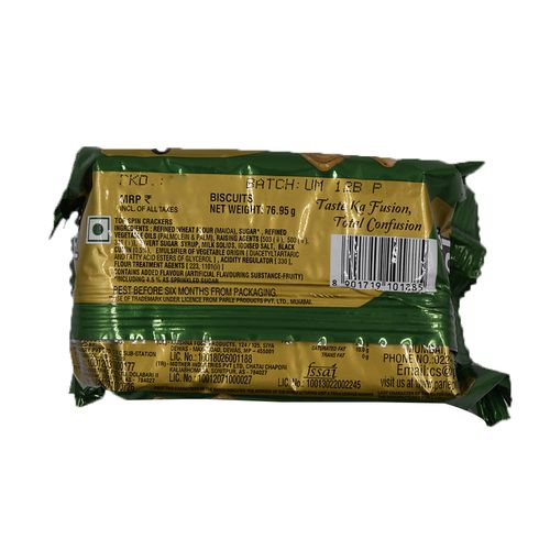 Parle Top Spin Crackers, 76.95 g Pouch