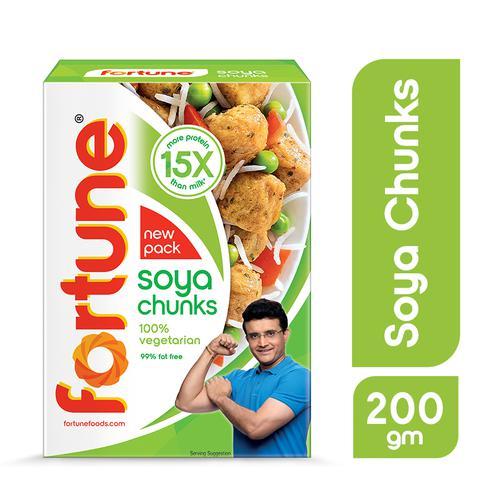 Fortune  Soya Chunks - 15x More Protein Than Milk, 200 g Carton