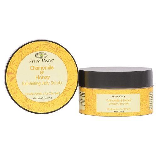 Aloe Veda Chamomile & Honey Exfoliating Jelly Scrub, 100 g