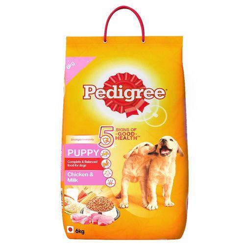 Buy Pedigree Dry Dog Food Chicken Milk For Puppy 6 Kg Online At Best