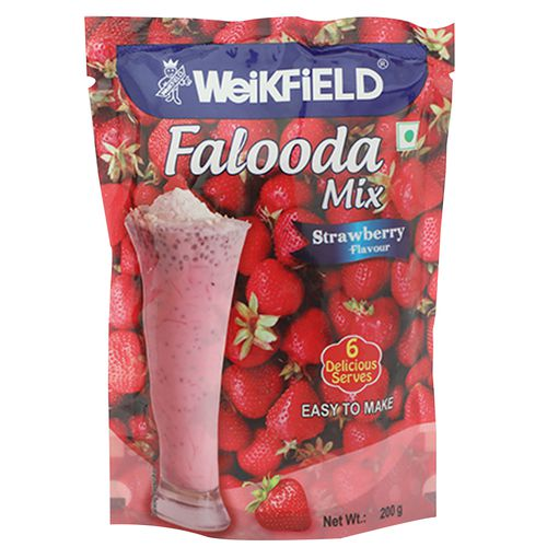 Weikfield Falooda Mix Strawberry, 200 g Pouch