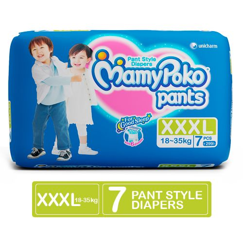 Mamypoko XXXL (18-35 kg) - 7 Diaper Pants, 7 pcs Pouch