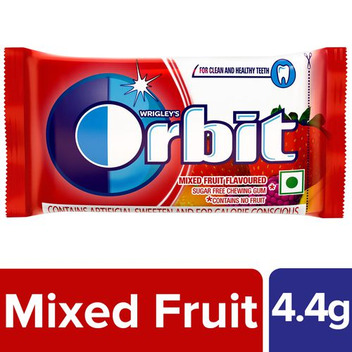 Wrigleys Orbit Sugar-Free Chewing Gum - Mixed Fruit, 4 4 g Pouch