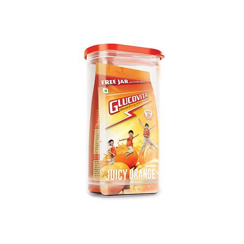 Glucovita Energy Drink - Instant Energy for Body & Brain, Orange, 400 g Jar