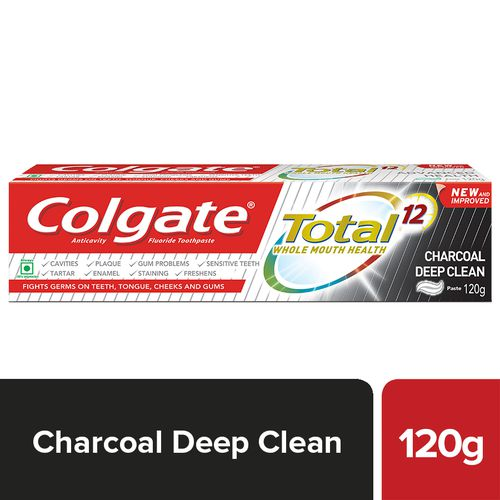 Colgate Toothpaste - Total, Charcoal, Anticavity, 120 g