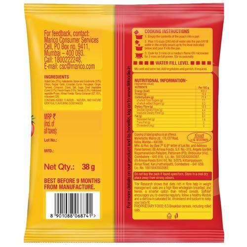 Saffola Masala Oats - Peppy Tomato, 38 g