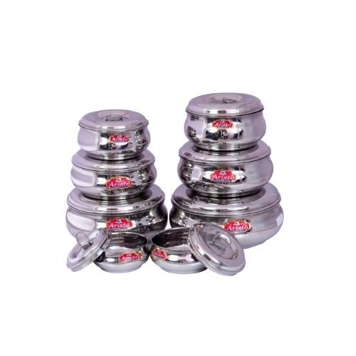 Aristo Designer Steel Jars Silver VR582, 8 pcs