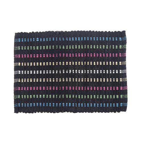 Florina Multicolor Bath Mat - Black Dot, 45 cm
