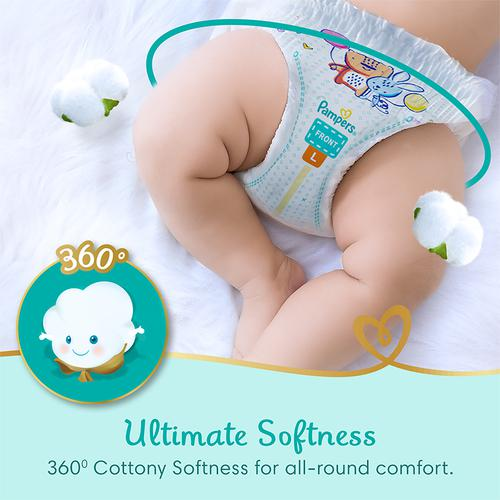 Pampers  Premium Care Diapers - 360 Cottony Softness, Large, 13 pcs
