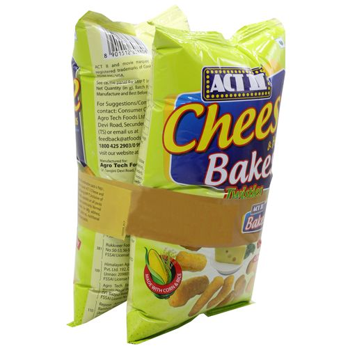 ACT II Cheese Bakes Combo, 110 g (Buy 1 Get 1 Free)