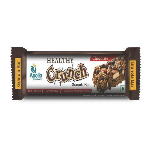 Apollo Pharmacy Healthy Crunch Granola Bar Chocolate, APG0027, 30 g