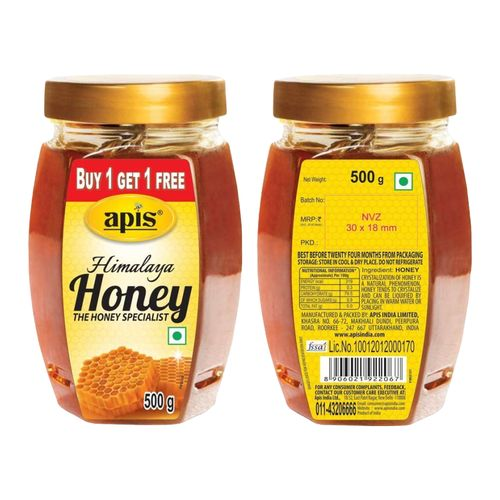 Apis Himalaya Honey, 500 g Buy 1 Get 1 Free