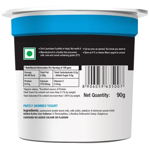 Epigamia  Greek Yogurt - Natural, 90 g Cup