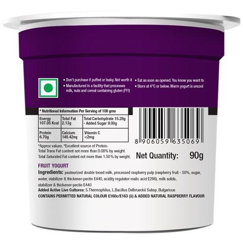 Epigamia  Greek Yogurt - Wild, Raspberry, 90 g Cup