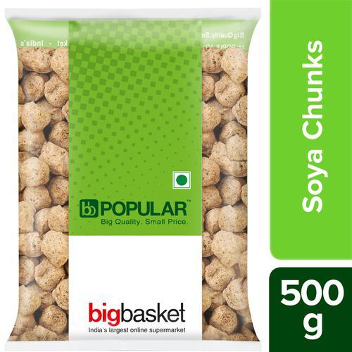bb Popular Soya Chunks, 500 g Pouch