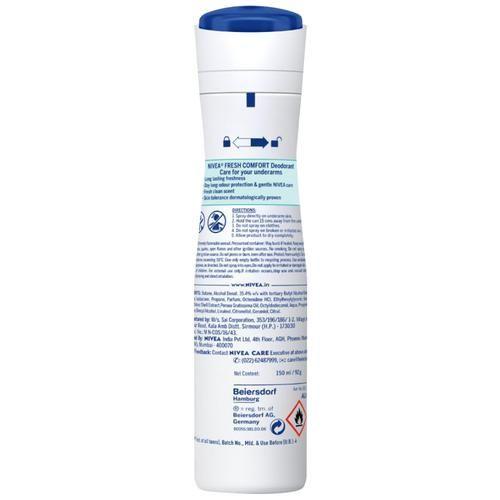 Nivea Fresh Comfort Women Deodorant - Long Lasting Freshness & 48h Protection, 150 ml