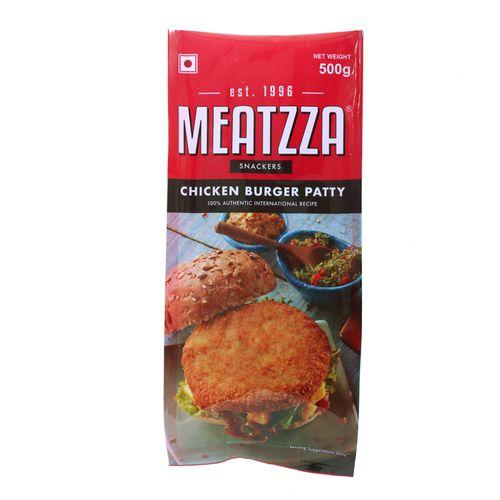 Meatzza Chicken Burger Patty, 500 g