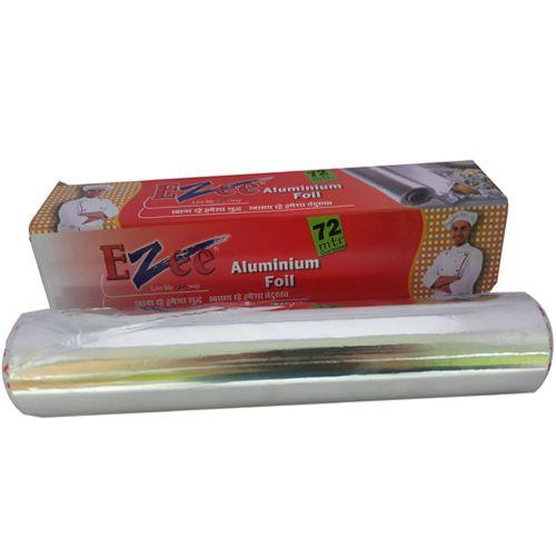 Ezee  Silver Aluminium Foil 14 Micron, 72 mtr