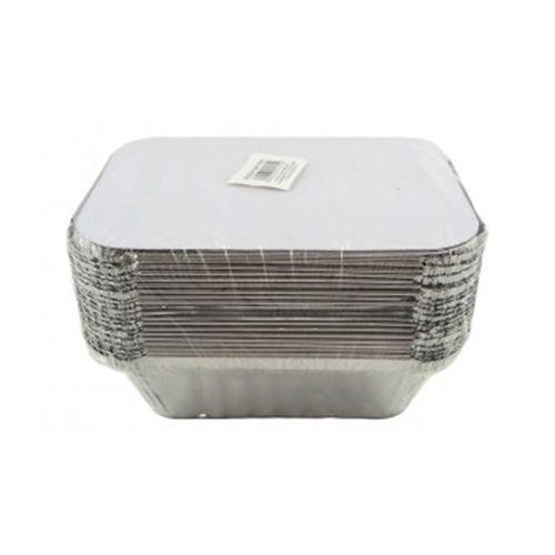Ezee  Silver Aluminium Foil Container, 250 ml Pack of 25