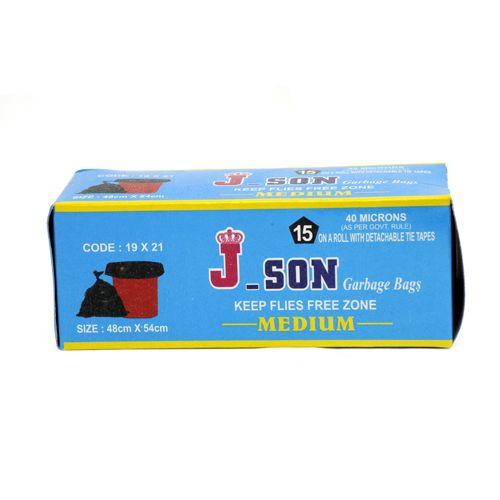 J-Son Garbage Bag - Medium, 15 pcs