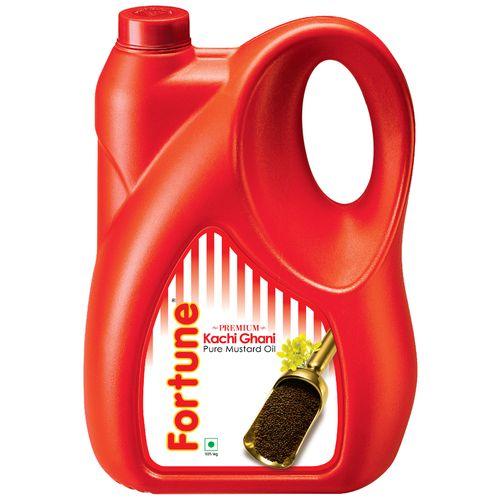 Fortune  Kachi Ghani Mustard Oil, 5 L Jar