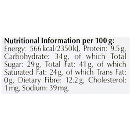 Lindt 70 Dark Chocolate Nutritional