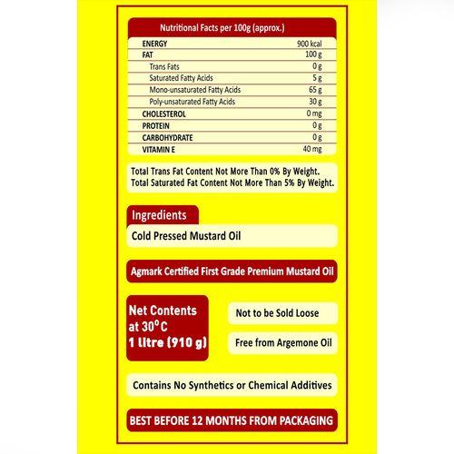 P Mark Kacchi Ghani - Mustard Oil, 1 L