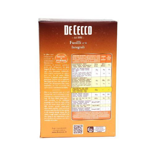 De Cecco Pasta - Fusilli Integrali, 500 g